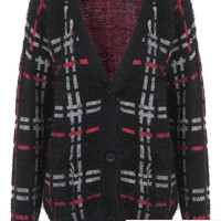 Fluffy Check Grunge Cardi - View All - Sale & Offers - Miss Selfridge