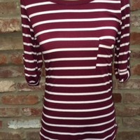 Striped Pocket Roll Sleeve