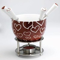 Hearts Chocolate Fondue Set at Wrapables - Specialty Serving Pieces