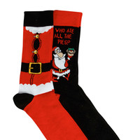Santa Clause Novelty Socks