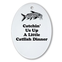 Catchin Us Up A Little Catfish Dinner Ornament (Ov