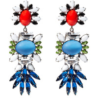DANNIJO Kendal Crystal Earrings - Colorful Drop Earrings - ShopBAZAAR