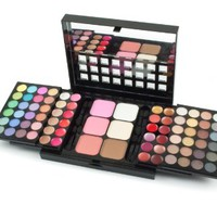 Frola Cosmetics Professional 78 Color Makeup Palette Sets Include 48 Eyeshadow 24 Lipgloss 6 Foundation Face Powder Blush