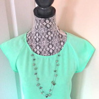The Limited Silver Double Strand Beaded Necklace