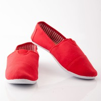 Jerrys Slip On Canvas Flats - Red