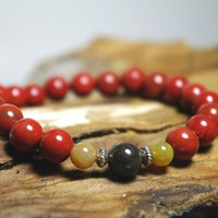 Awaken Your Spirit Red Jasper Meditation Bracelet