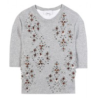 EMBELLISHED JERSEY TOP