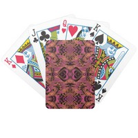 Pink, Orange, Black, Silky Art Deco Pattern Deck Of Cards