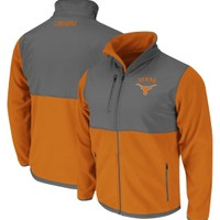 Colosseum Athletics Men's Texas Longhorns Burnt Orange/Grey Halfpipe Full-Zip Jacket