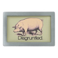 Disgruntled Pig Belt Buckle