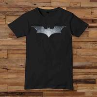 Batman logo dark night t shirt T shirt White Black Dsign t-shirt men S,M,L,XL