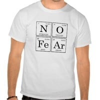 unisex tee shirt periodic table no fear