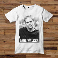 paul walker t shirt T shirt White Black Dsign t-shirt men S,M,L,XL