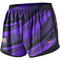 Nike Women's LSU Tigers Purple Printed Tempo Running Shorts
