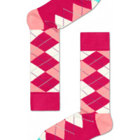 Pink argyle socks for fun people at HappySocks.com