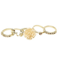 Flower Love Ring Set - WetSeal