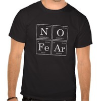 unisex black tee shirt periodic tables no fear