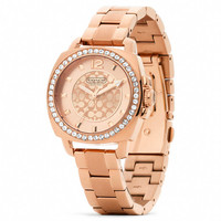 MINI BOYFRIEND ROSEGOLD PLATED CRYSTAL BRACELET WATCH