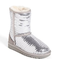 UGG® Australia 'Classic Short Sparkle' Boot (Little Kid & Big Kid) | Nordstrom