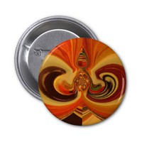 Hakuna Matata Cool Retro Vintage flowers design.jp Pinback Button