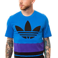 The Art Blocked Tee in Bluebird, Black, & Purple