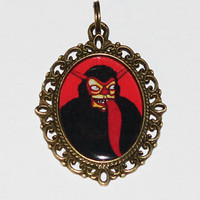 Krampus Christmas Pendant Necklace