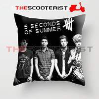 "5 Second Of Summer Personil - Pillow Cover 18"" x 18"" - One Side"