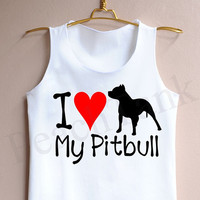I Love My Pitbull - Tank Top , Tank , Cute Tank Top , I Love My Pitbull Tank Top , Pitbull Tank Top