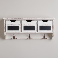 3-Slot Hook Wall Cubby