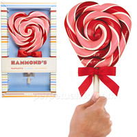 HAMMOND'S ORIGINAL CHERRY HEART LOLLIPOP