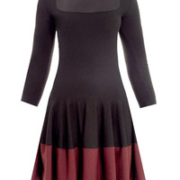 Bi-colour wool dress