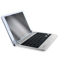 Bluetooth QWERTY Keyboard Stand Case for iPad Air 5th Generation 2013 (Silver Chrome)