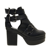 ASOS AGAINST THE CLOCK Cut Out Ankle Boots