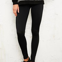 BDG Ribbed Leggings in Black at Urban Outfitters