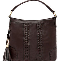 Tassels in the Air Brown Handbag