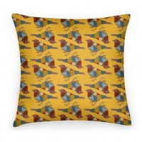 Bird Pattern Pillow