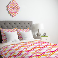 Heather Dutton Intersection Bright Duvet Cover