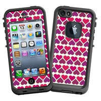 Hearts White Skin for the iPhone 5 Lifeproof Case by skinzy.com