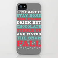 Snow Fall iPhone & iPod Case by LookHUMAN