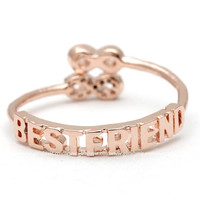 girlsluv.it - infinity best friends ring, adjustable