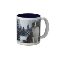 Winter Border Collie Mug