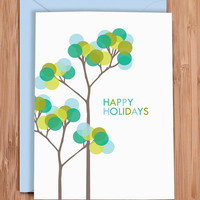 holiday card set / bubble tree