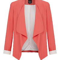 Coral Waterfall Blazer