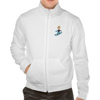 Snowboarding boy cartoon jacket