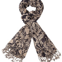 Nude and navy deco scarf