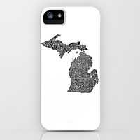 Typographic Michigan iPhone & iPod Case by CAPow!