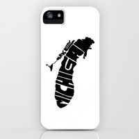 Typographic Lake Michigan iPhone & iPod Case by CAPow!