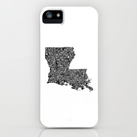 Typographic Louisiana iPhone & iPod Case by CAPow!