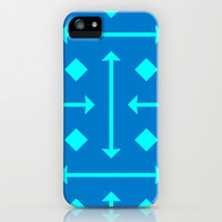 Love Struck - Blue iPhone & iPod Case by Lauren Lee Designs