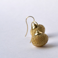 Golden earrings » Craftori